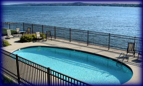 Pool on the waterfront of Sturgeon Bay