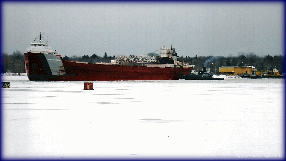 Ship with Tugs in Ice